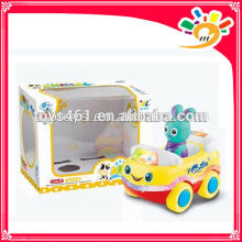 Cute Mini Car,Cartoon Rabbit Car,Plastic B/O Bump & Go Cartoon Car Toys,Car Toys With Light And Music For Children
