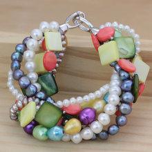 Ювелирные изделия браслета перлы Fashonable Multi-Strands (E150040)