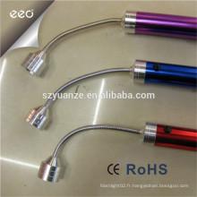 Lampe de poche led, lampe torche à led lampe de base magnétique, lampe torche à base magnétique