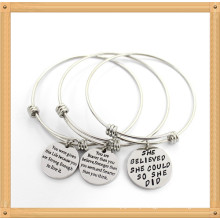 Customized Stainless Steel Bangle Fashion Jewelry Bracelet