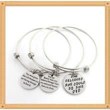 Personalizado pulseira de aço inoxidável pulseira jóias de moda