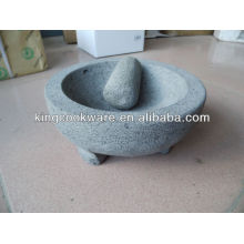 Almofariz e almofariz de pedra Molcajete