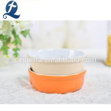 Vente en gros de différentes couleurs pour animaux de compagnie bol en céramique