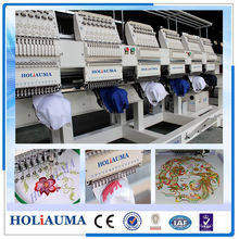 Smart Six Head 15 Needle Computer Embroidery Machine / Dahao Control System Embroidery Machine