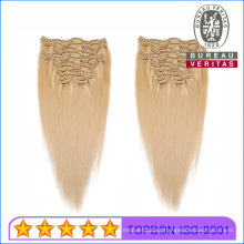 Brazilian Hair 100% Natural Virgin Human Hair 7PCS/Set Clip Hair Extension
