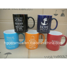 11oz Spray Color Mug with Laser Logo