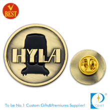 Hyla Customized 2D Souvenir Brass Pin Badge with Ancient Copper Plating