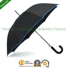 """27"""" parapluie de Golf automatique en fibre de verre avec poignée en caoutchouc (GED-0027BFR)"""