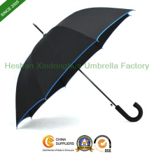 "27"" Automatic Fiberglass Golf Umbrella with Rubber Handle (GOL-0027BFR)"