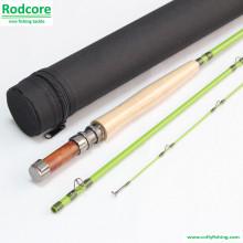Verde Folha Gr663-3 Qualidade Feita Classic Fiberglass Fly Rod