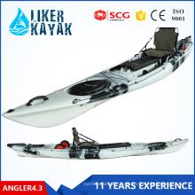 Neuer Roto-geformter Plastik-Single-Sea-Fischen-Kajak mit Ruder- und Alu-Rahmen Bequemer Sitz