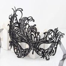 Маска кружева с черной кружевной маской для сексуального танца
