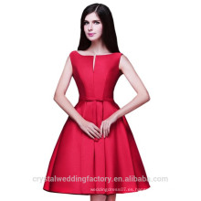 Venta al por mayor corto de dama de honor baratos vestidos de satén 2016 vestido de noche con plisados mujeres vestidos de baile LBB02