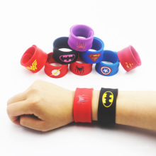 Colorful Children Silicone Slap Bracelet Super Men Silicone  Slap Wristbands