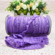 Double Ruffle Frill Elastic Ribbon Trim