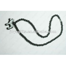 Ожерелье из овечьего гематитового ожерелья из бисера