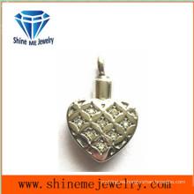 Joyería de acero inoxidable con incrustaciones de CZ colgante colgante