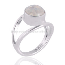 Natural Rainbow Moonstone Gemstone 925 en argent sterling bijoux en gros