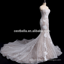 Costum-made Sweetheart Neckline sirena últimos diseños vestido de novia