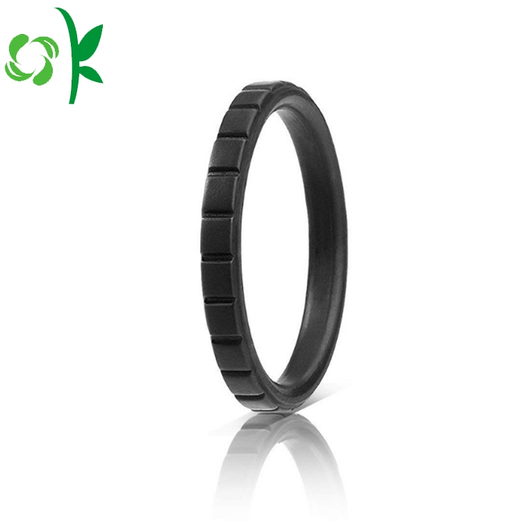 High End Black Silicone Ring