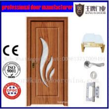 Vente chaude nouveau produit PVC MDF intérieur porte de la chambre