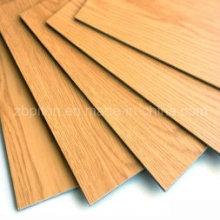 Plancher de vinyle de PVC dans des planches