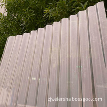 Weiersha Clear Polycarbonate Corrugated Sheet for Roof Daylighting (Roma)