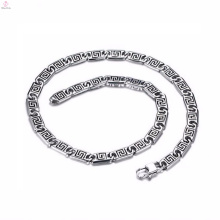 Tendências da Moda Novo Modelo de Prata Cadeia Colar Pulseira Set Jóias