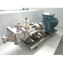 industrial sanitary twin screw pump for beverage