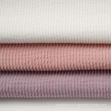 Tecido de malha de algodão poli duplo jacquard (30S * 2)