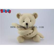 Bege engraçado brinquedo longo braço recheado Teddy Bear animal Bos1120