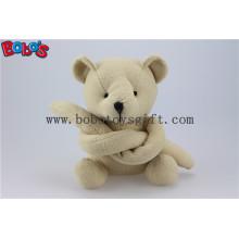 Бежевая прикольная игрушка с длинным рукавом Фаршированная игрушка с плюшевым медвежонком Bos1120