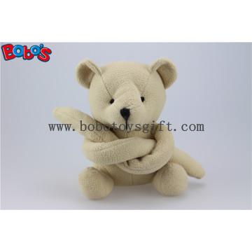 Beige Funny Toy Long Arm Stuffed Teddy Bear Animal Bos1120