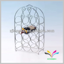 sturdy welded chrome plated wire metal bar bottle rack
