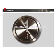 Interruptor de tecla de elevador metal popular fábrica 19mm