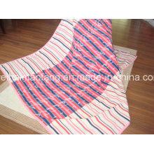 Manta de algodón orgánico del 100% con diseño del telar jacquar (NMQ-CBB-003)