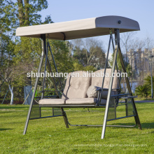outdoor garden swing chairs double seat metal frame swings with canopy
