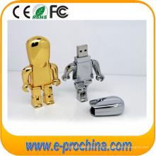 Metall silbrig Roboter Form USB Flash Drive für Telefon (EM229)