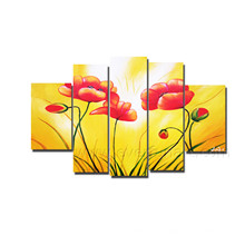 Handmade Flower Canvas Oil Painting for Wall Decor