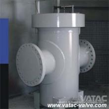 Crépine de type T de bride d'acier inoxydable CF8 / CF8m / CF3 / CF3m RF