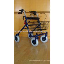 Rollator de aço econômico de 4 rodas