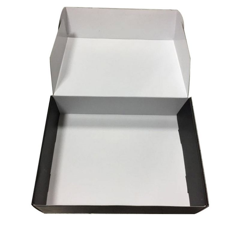 Black Garment Packaging Corrugated Paper Boxes