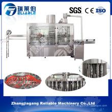 Línea completa de producción de jugo de botella / máquina de llenado de jugo