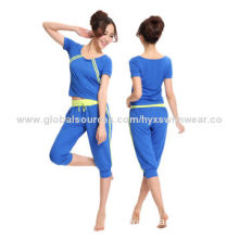 Tank Tops and Long Trousers Soft Fitness Yoga Wear & Outdoor Wear