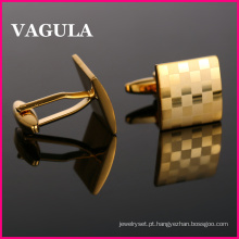 Alta qualidade VAGULA abotoaduras ouro Laser (HL10169)