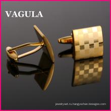 VAGULA высокое качество золота лазерной Запонки (HL10169)