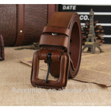 Cowboy s hand made Jeans leather belts with wide buckle
