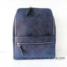 Brand Designer Lady Fake Suede Leather Backpack (NMDK-040504)