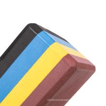 custom logo printed eco friendly  pilates meditation rainbow solid multi color layer  workout non-slip pilates yoga block