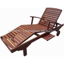 Meranti Outdoor / Gartenmöbel Set - Sonnenliege